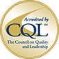 Accredited by CQL, the council on quality and leadership logo
